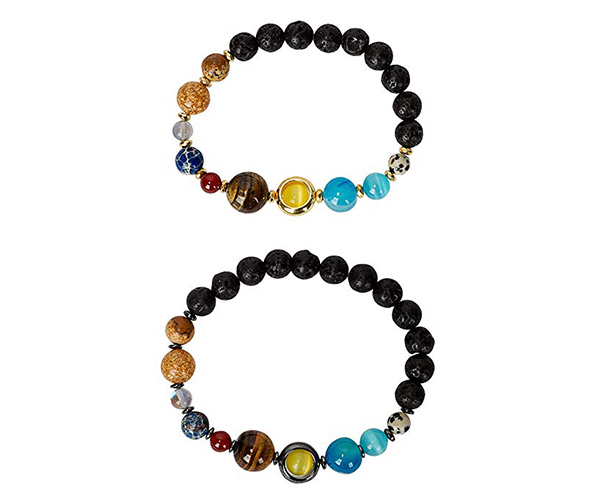 SPUNKYsoul His and Hers Couple Universe Bracelet Set