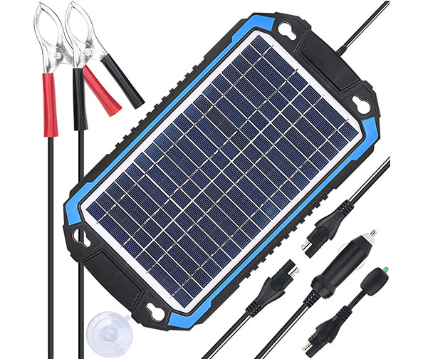 SUNER POWER 12V Solar Car Battery Charger & Maintainer