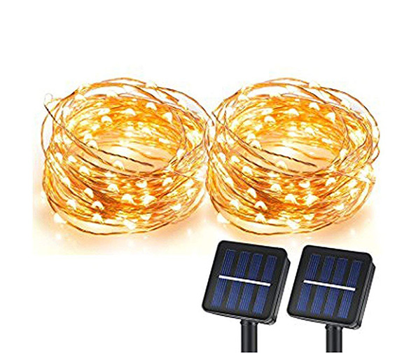 SUNLITEC Solar String Lights, 33ft (100 LEDs)