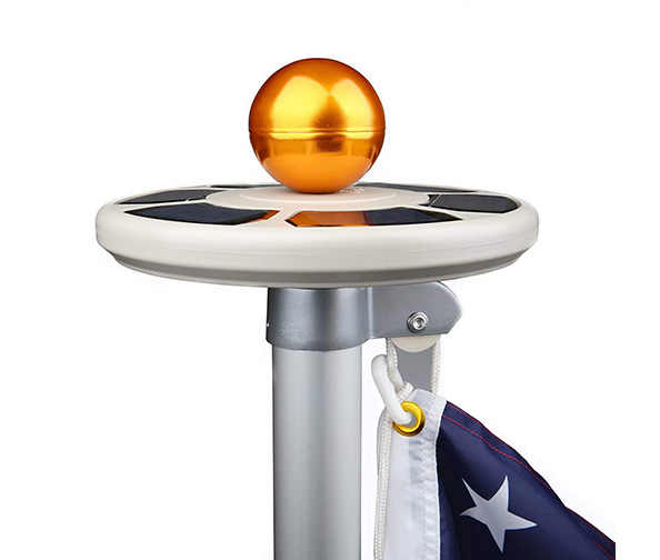 SUNNYTECH 3rd Generation Solar Power Flag Pole Light