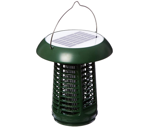 Sandalwood Solar Powered Bug Zapper Garden Lamp