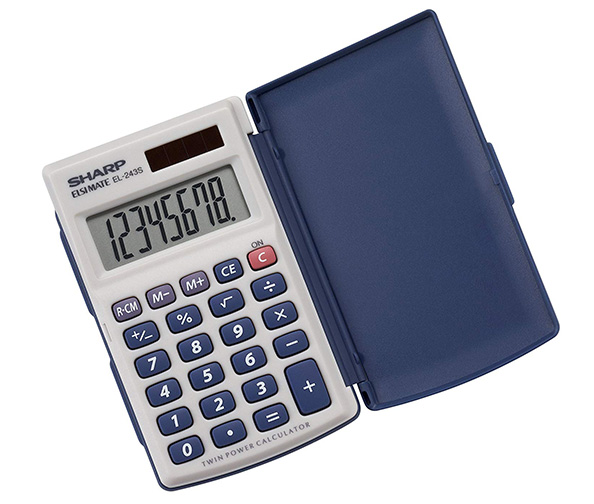 Sharp Electronics 8-Digit Twin Powered Calculator