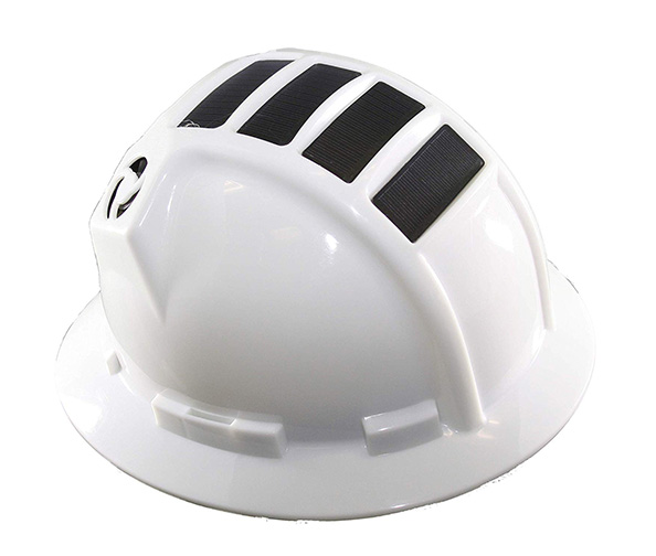 Solar Helmet With Rechargeable Battery