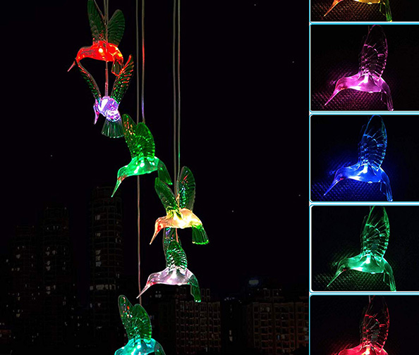 Solar Hummingbird Wind Chimes