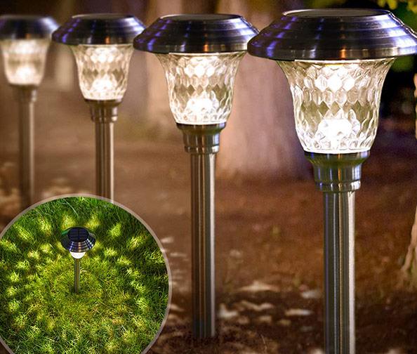 Solar Lights Bright Pathway Outdoor Garden Stake