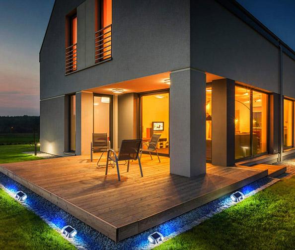 Solmore 4 Pack Solar Dock Lights