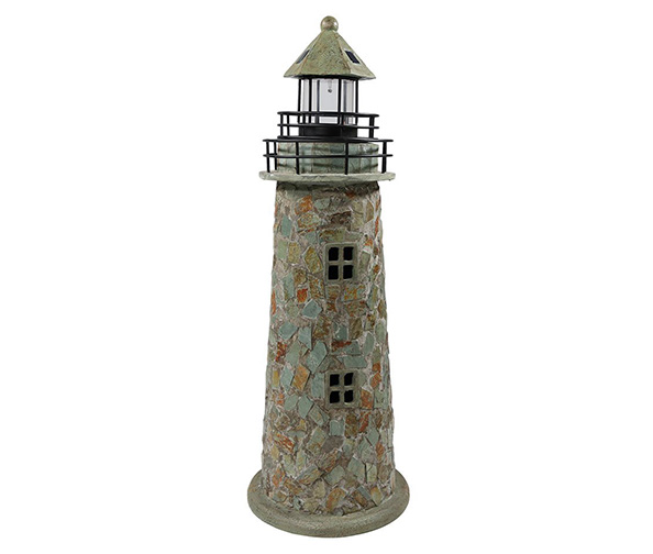 Sunnydaze Solar LED Garden Lighthouse