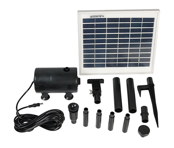 Sunnydaze Solar Water Pump and Panel