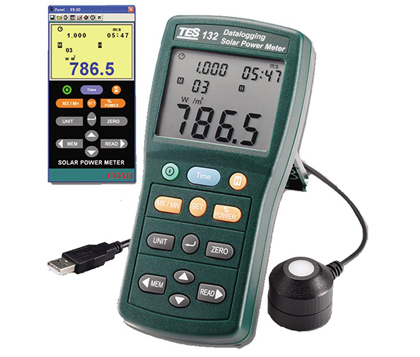 TES 132 Solar Power Meter (Datalogging)