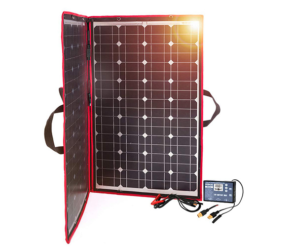 The DOKIO 100 Watts 12 Volts Monocrystalline Foldable Solar Panel with Charge Controller