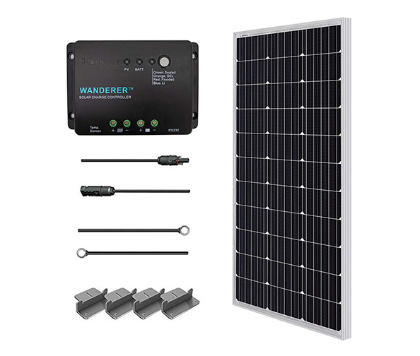 The Renology 100 Watts 12-Volt Monocrystalline Solar Starter Kit
