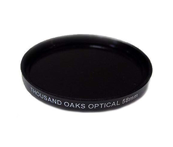 Threaded Black Polymer Solar Filter for Cameras by Thousand Oaks Optical
