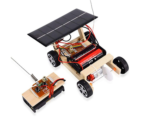 Tnfeeon Assembly Car Model, DIY Solar Powered Electric RC Vehicle