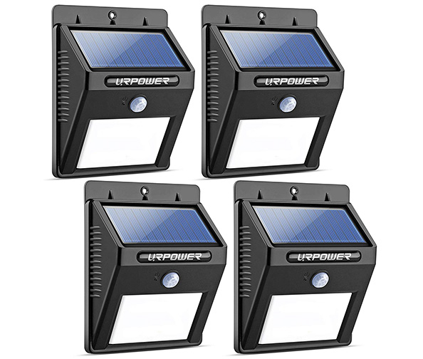 URPOWER Outdoor Solar Motion Sensor Lights, Pack of 4