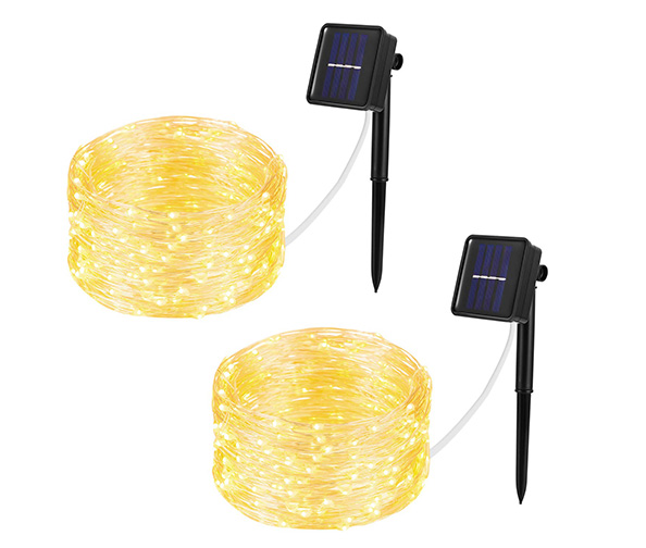 WELLGIUM Solar String Lights, 33ft (100 LEDs)