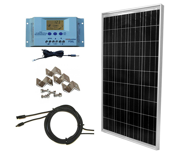 WINDYNATION 100W Solar Panel Off-Grid Boat Kit