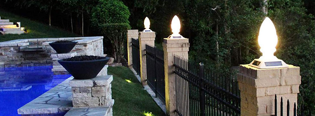 Where can you use solar pillar lighting