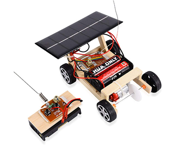 Yamix Wood Solar and Wireless Remote Control Car