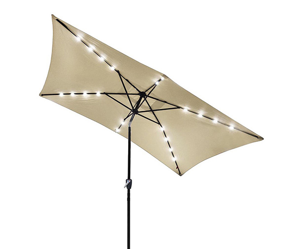 Yescom Solar LED Lighted Umbrella