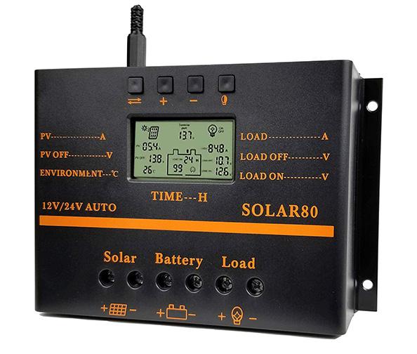 ZHCSolar 80-Amp PWM Solar Charge Controller