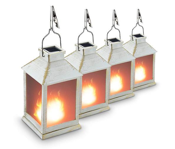"ZKEE 10"" Vintage Solar Lantern"