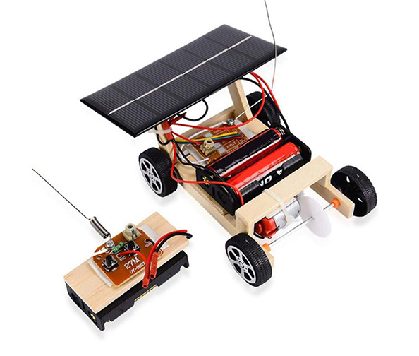 Zerodis Assembly Model Car, DIY Assembled Solar RC Toy