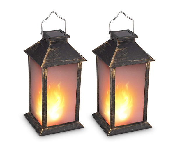 Zkee Vintage Style Solar Powered Candle Lantern