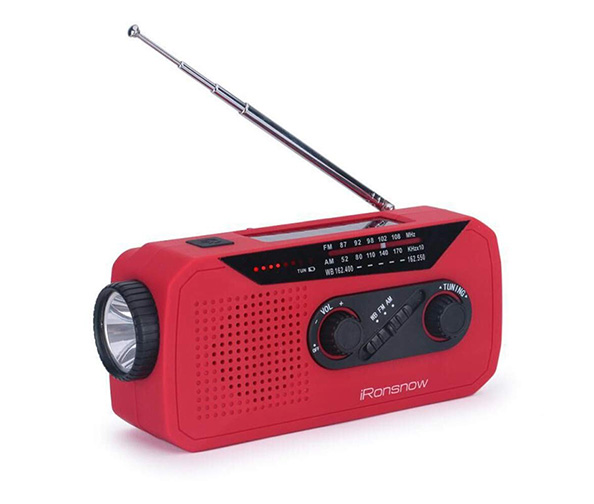 iRonsnow IS-366 Solar Emergency NOAA Weather Radio Hand Crank