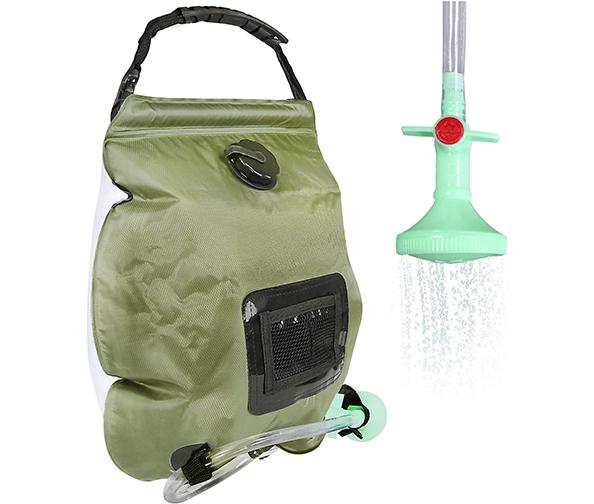 Trofoty Solar Camping Shower Bag, 5 Gallons/20L